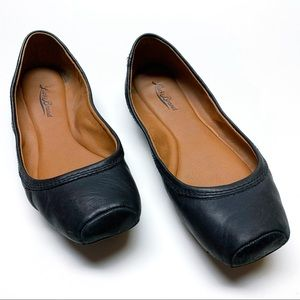 Lucky Brand Santana Black Leather Ballet Flat